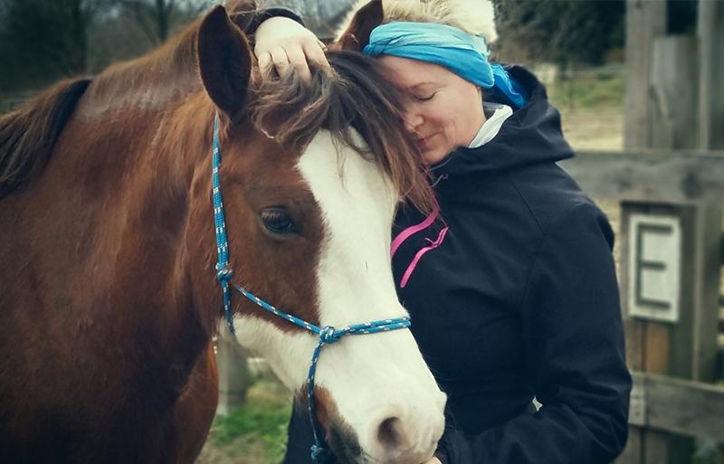 Wiebke Wiedeck mit Ihrem Pferd Blue